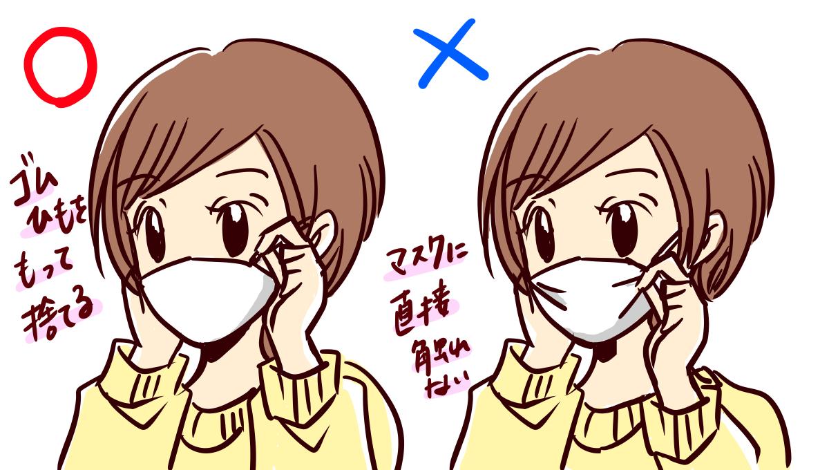 マスクの外し方画像1