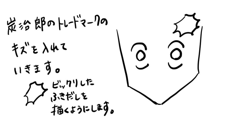 【鬼滅の刃】竈門炭治郎をだれでも簡単に描ける方法03
