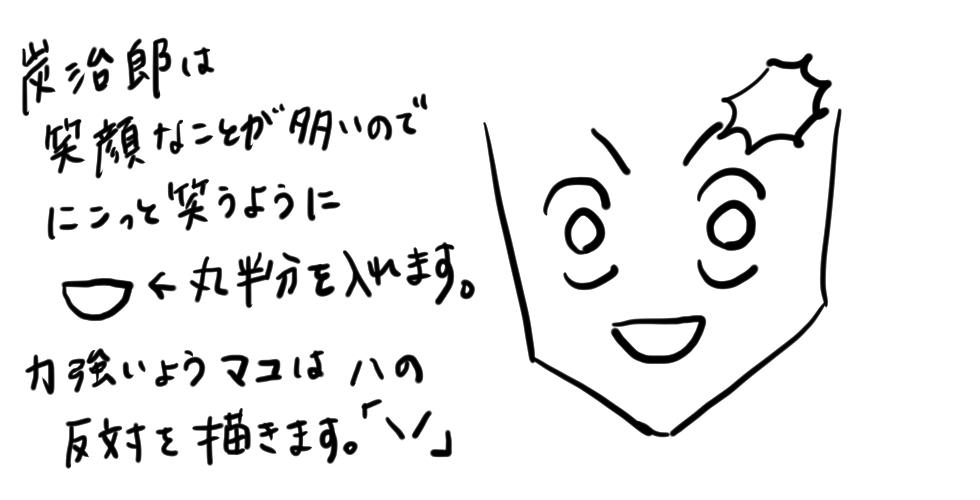 【鬼滅の刃】竈門炭治郎をだれでも簡単に描ける方法04