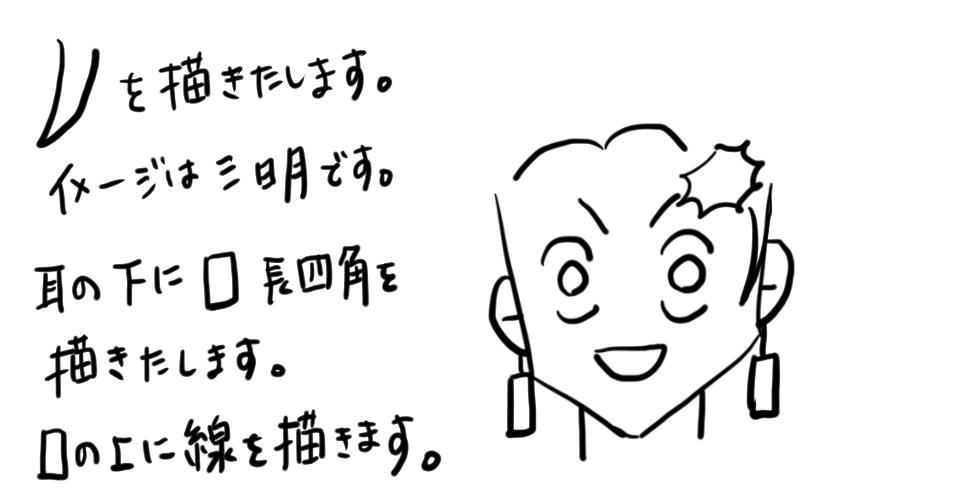 【鬼滅の刃】竈門炭治郎をだれでも簡単に描ける方法07