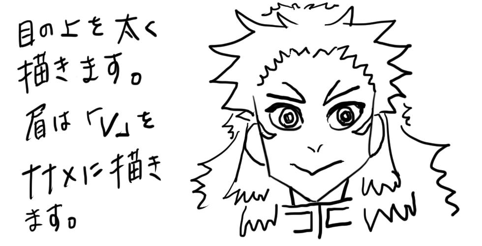 【鬼滅の刃】煉獄杏寿郎をだれでも簡単に描ける方法11