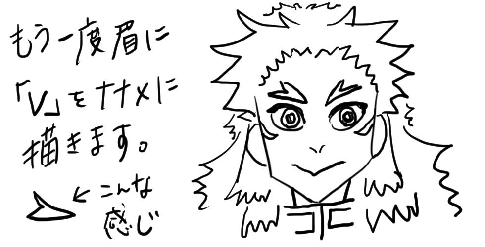 【鬼滅の刃】煉獄杏寿郎をだれでも簡単に描ける方法12