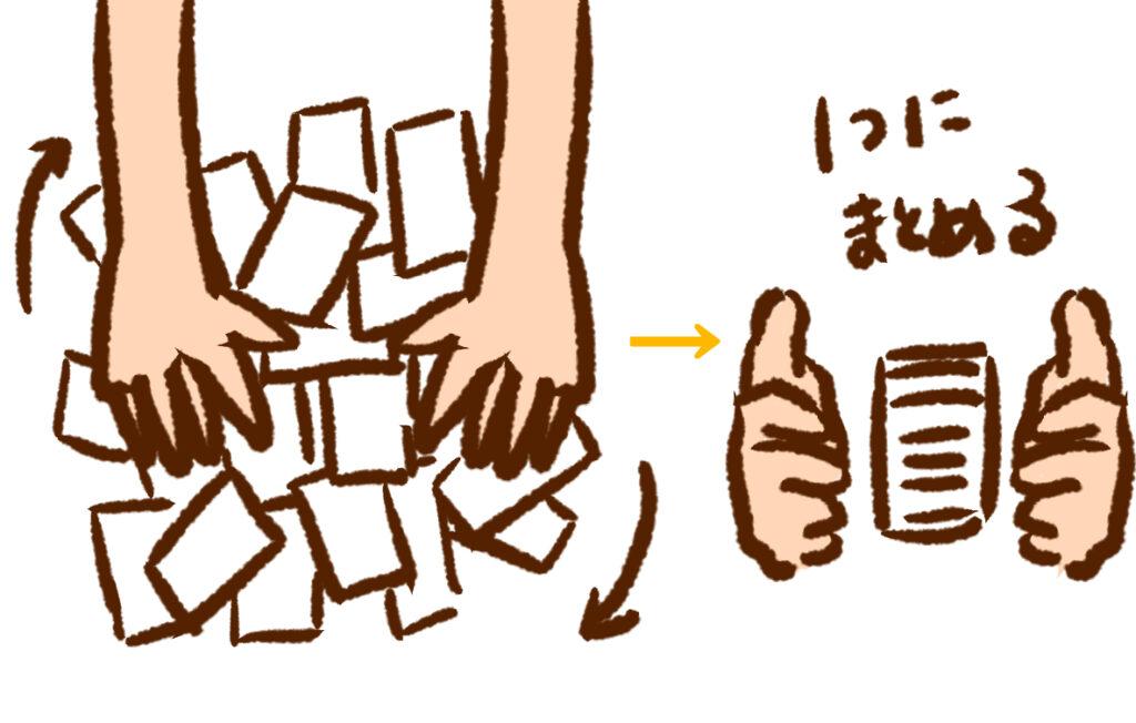 タロットカードの占い方・シャッフル編画像01